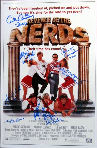 Revenge of the Nerds Cast Signed Poster (private signing)